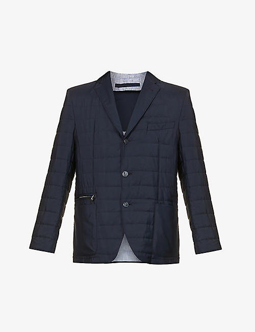 CORNELIANI: Quilted underlay shell jacket