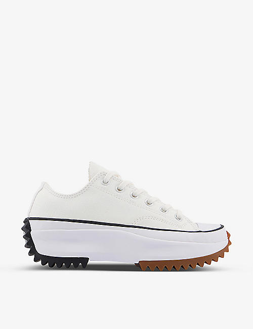 CONVERSE: Run Star Hike low-top canvas trainers