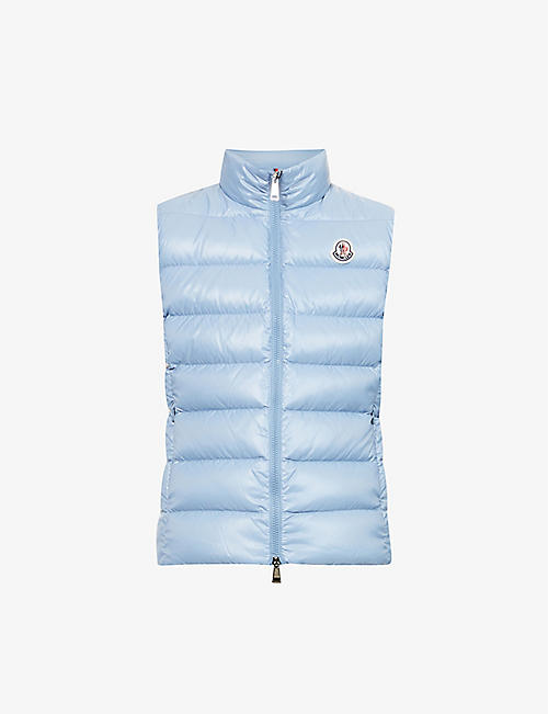 MONCLER: Ghany logo-embroidered padded shell-down gilet