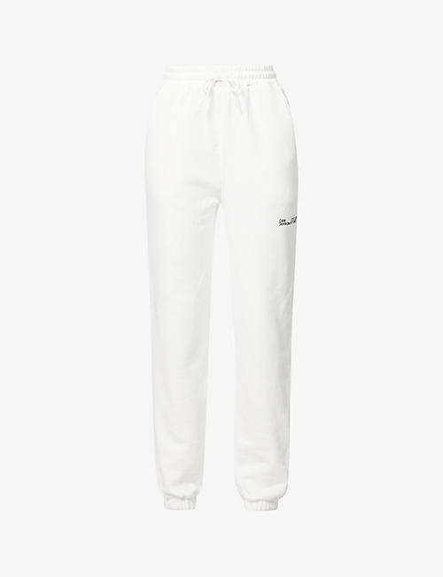 CAMILLA AND MARC: Denver logo-embroidered high-rise cotton-jersey jogging bottoms