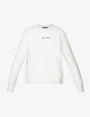 CAMILLA AND MARC: Denver logo-embroidered cotton-jersey sweatshirt