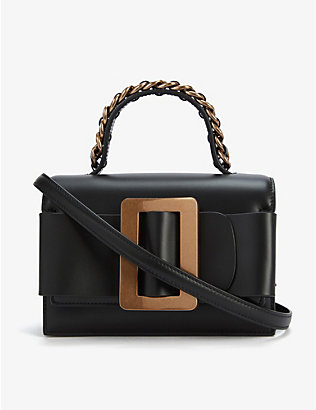 BOYY: Fred 19 leather and suede tote bag