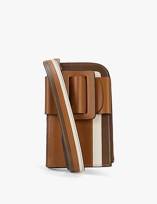 BOYY: Buckle leather and suede phone cross-body bag