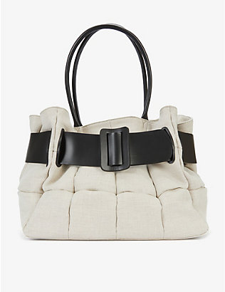 BOYY: Bobby cotton and leather tote bag