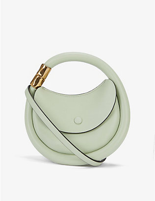 BOYY: Disc leather and suede cross-body bag