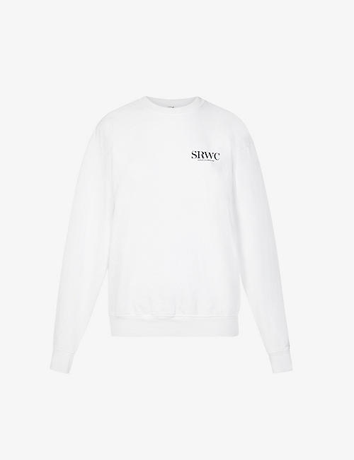 SPORTY & RICH: Logo-print cotton-jersey sweatshirt