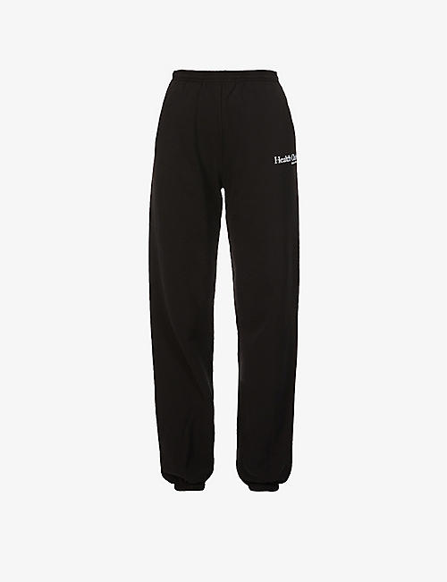 SPORTY & RICH: Health Club tapered mid-rise cotton-jersey jogging bottoms
