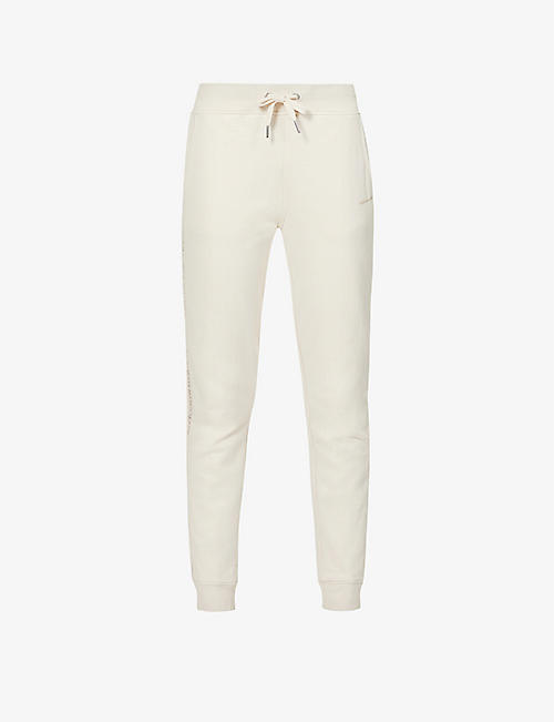 CALVIN KLEIN: Logo-embroidered mid-rise cotton-jersey jogging bottoms