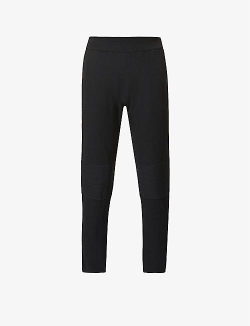 SNOW PEAK: Relaxed-fit high-rise tapered wool-blend trousers