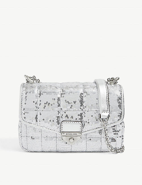 MICHAEL MICHAEL KORS: Soho sequin-embellished tweed shoulder bag