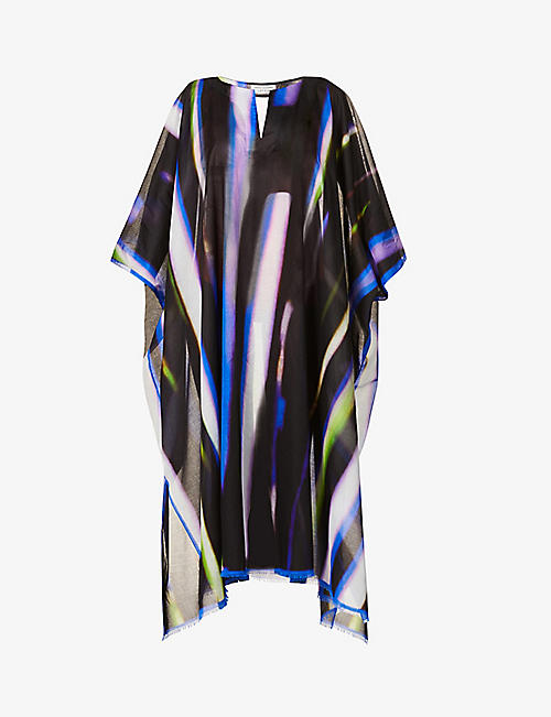 DRIES VAN NOTEN: Graphic-print cotton maxi dress