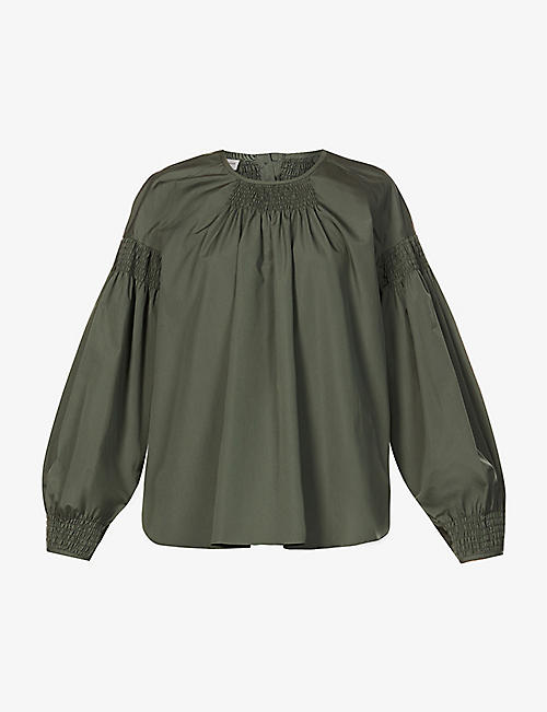 DRIES VAN NOTEN: Puffed-sleeve cotton-poplin shirt