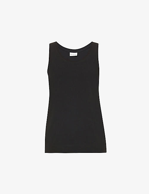 DRIES VAN NOTEN: Sleeveless cotton-jersey vest