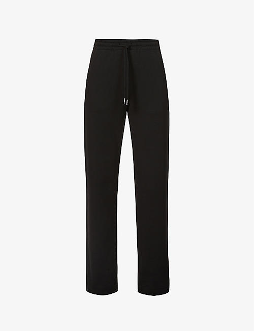 DRIES VAN NOTEN: Straight-leg high-rise cotton-jersey jogging bottoms