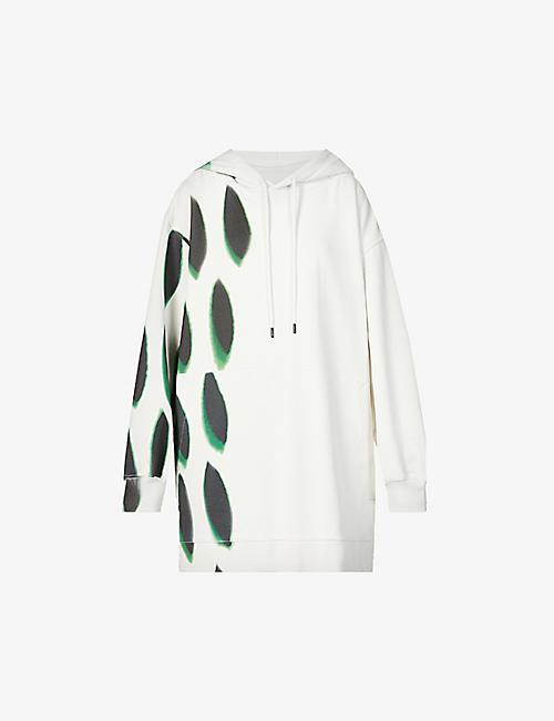DRIES VAN NOTEN: Graphic-print cotton-jersey hoody