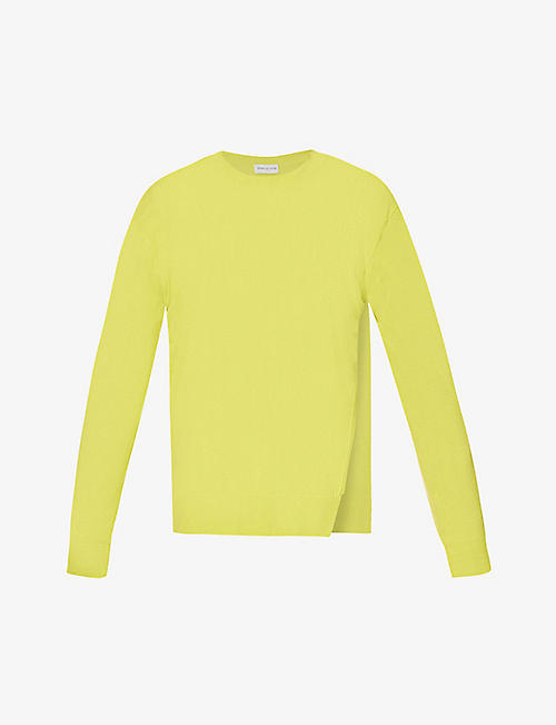 DRIES VAN NOTEN: Side-split scoop-neck cashmere jumper