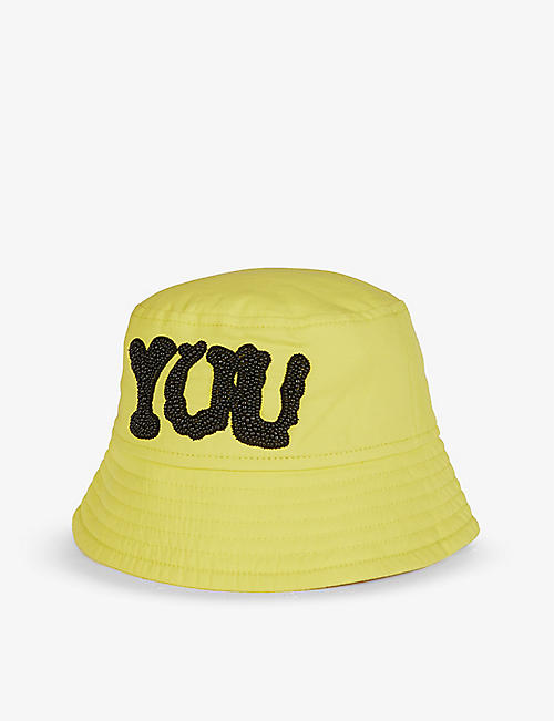 DRIES VAN NOTEN: Bead-embellished cotton-blend bucket hat