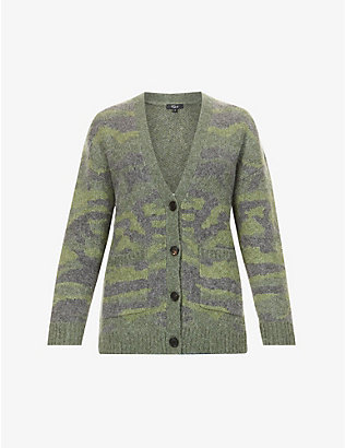 RAILS: Runi camouflage-pattern knitted cardigan
