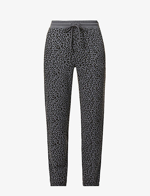 RAILS: Kingston graphic-print cotton-blend jogging bottoms