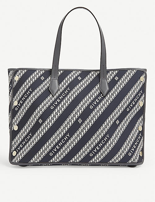 GIVENCHY: Bond medium canvas and leather tote bag