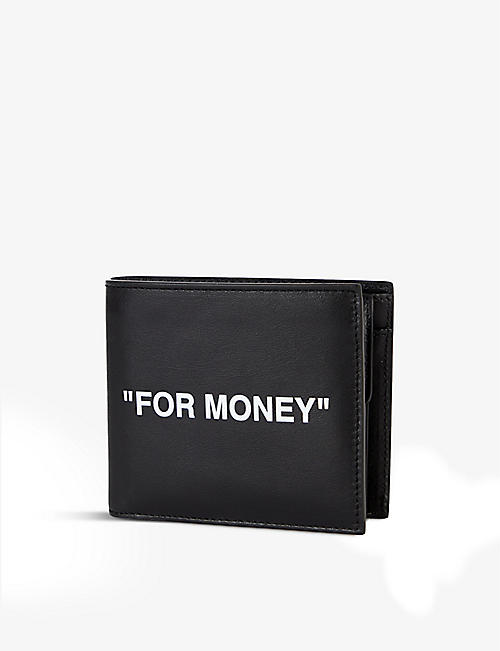 OFF-WHITE C/O VIRGIL ABLOH: Quote-print leather billfold wallet
