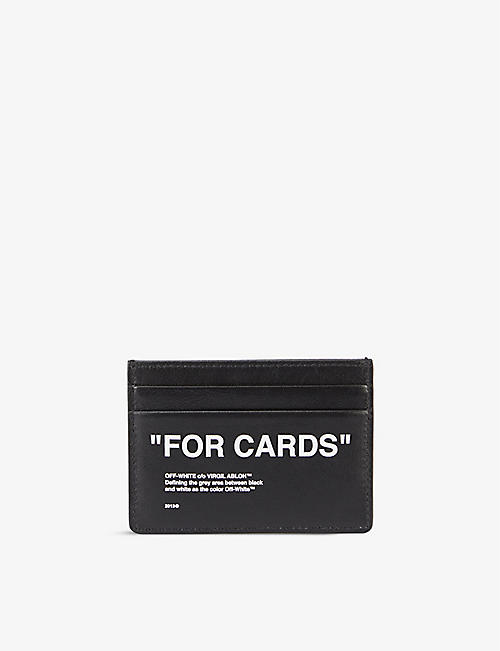 OFF-WHITE C/O VIRGIL ABLOH: Quote-print leather cardholder