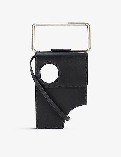 OFF-WHITE C/O VIRGIL ABLOH: Meteor cutout leather cross-body bag