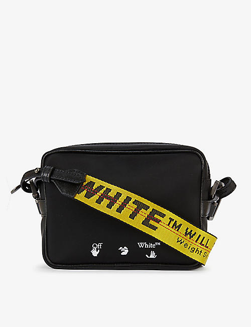OFF-WHITE C/O VIRGIL ABLOH: Logo-embroidered shell cross-body bag