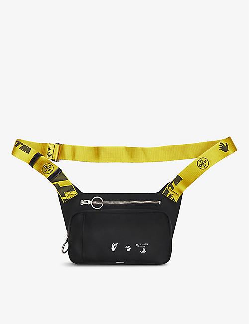 OFF-WHITE C/O VIRGIL ABLOH: Brand-print zipped shell bum bag