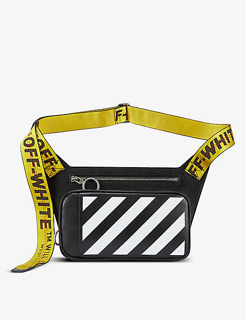 OFF-WHITE C/O VIRGIL ABLOH: Striped leather body-bag