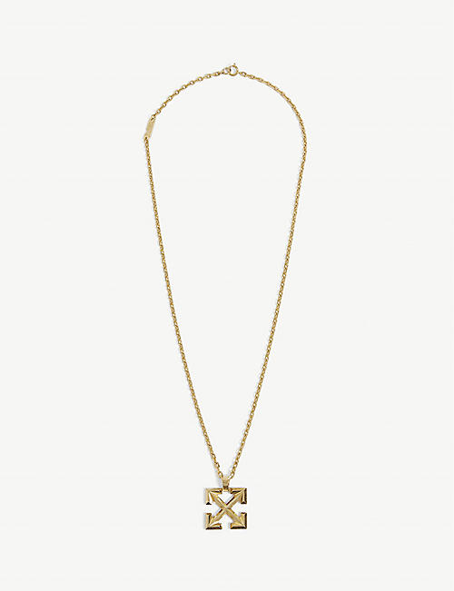 OFF-WHITE C/O VIRGIL ABLOH: Arrow brass necklace