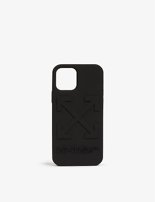 OFF-WHITE C/O VIRGIL ABLOH: Arrow-embossed iPhone 12 Pro phone case