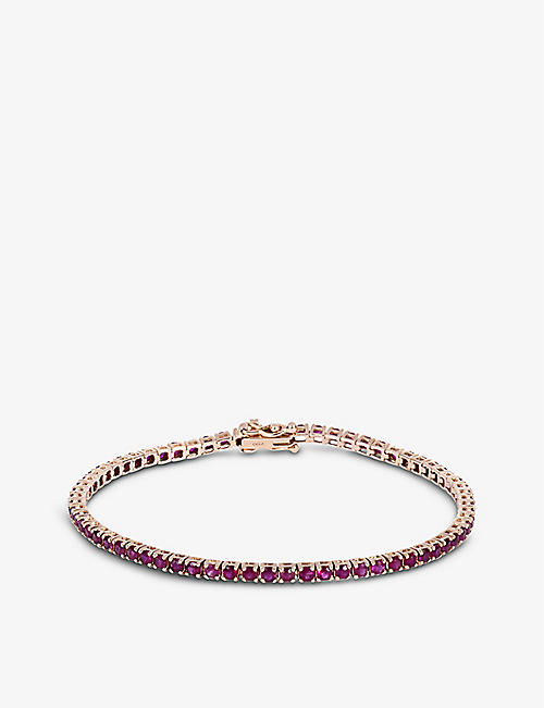 ROXANNE FIRST: Original Tennis ruby and 14ct rose-gold bracelet