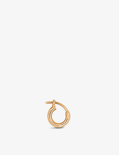 ROXANNE FIRST: Chubby rose-gold single huggie earring