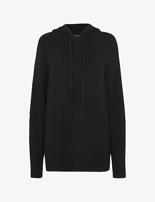 WHISTLES: Relaxed-fit ribbed woven hoody