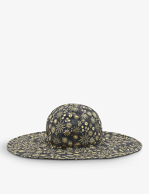 SANDRO: Capeline printed cotton floppy hat