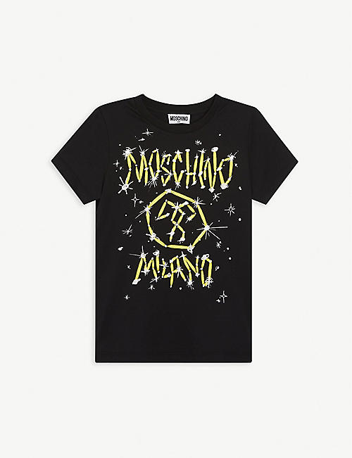 MOSCHINO: Graphic-print cotton T-shirt 4-14 years