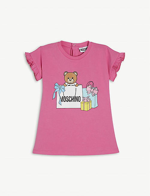 MOSCHINO: Graphic-print cotton dress 3-36 months