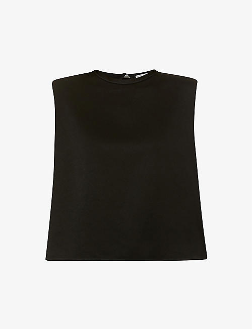 BA&SH: Air loose-fit sleeveless crepe top
