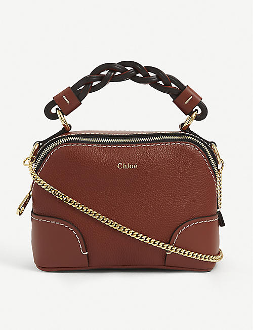CHLOE: Daria mini leather cross-body bag