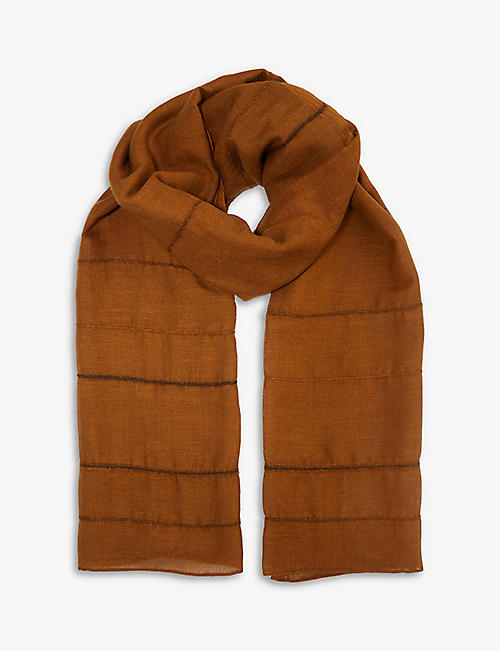 NORLHA: Feather Winds silk and wool-blend scarf