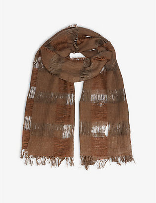 NORLHA: Chic Tracks yak and silk-blend scarf