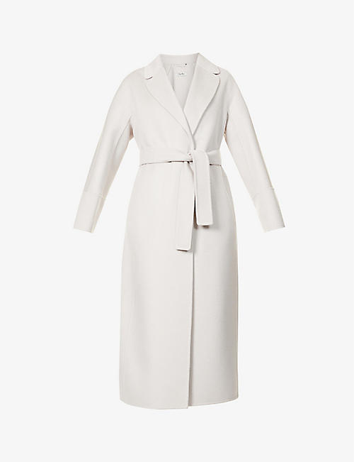 S MAX MARA: Arona belted wool and cashmere-blend coat