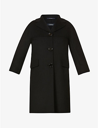 S MAX MARA: Arianna single-breasted wool coat