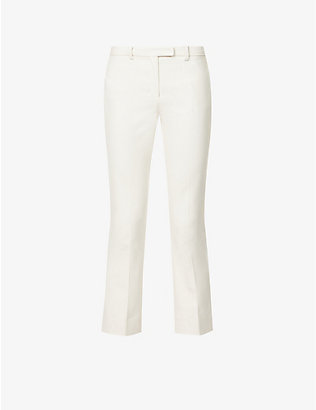 S MAX MARA: Pacca tapered mid-rise cotton-blend trousers