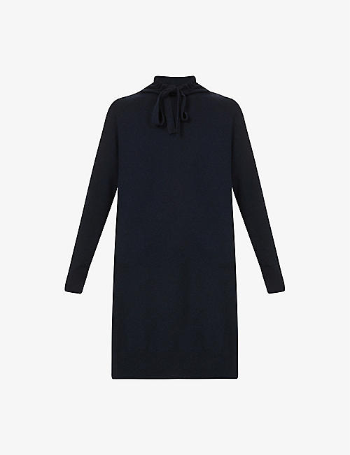 S MAX MARA: Pavia drawstring-collar wool and cashmere-blend jumper