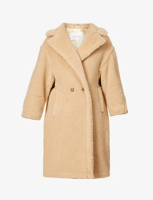 MAX MARA: Ted double-breasted wool and silk-blend coat