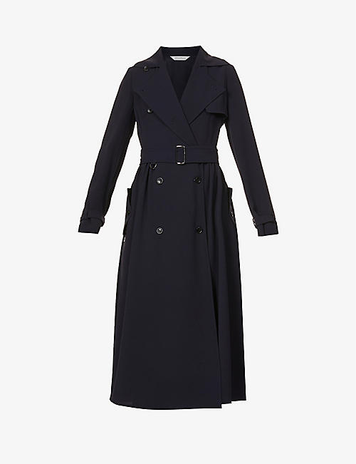 MAX MARA: Piombo double-breasted crepe midi dress