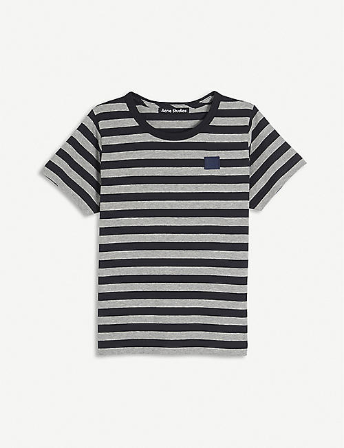 ACNE STUDIOS: Nash striped cotton T-shirt 3-10 years