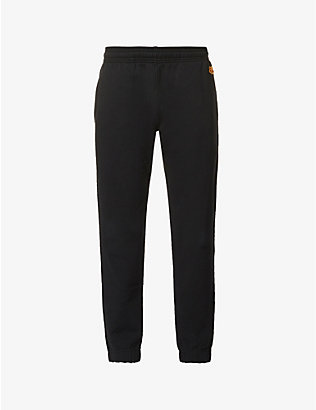 KENZO: Crest logo-embroidered cotton-jersey jogging bottoms
